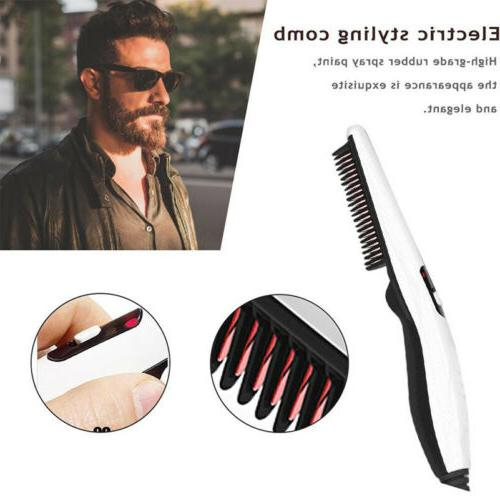 Men Straightener Beard Quick Hair Brush