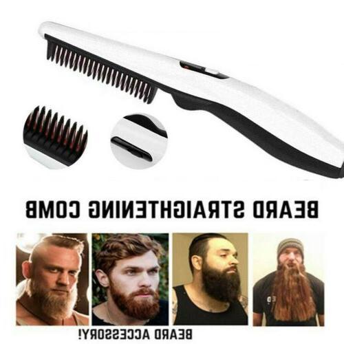 men electric beard straightener beard comb quick