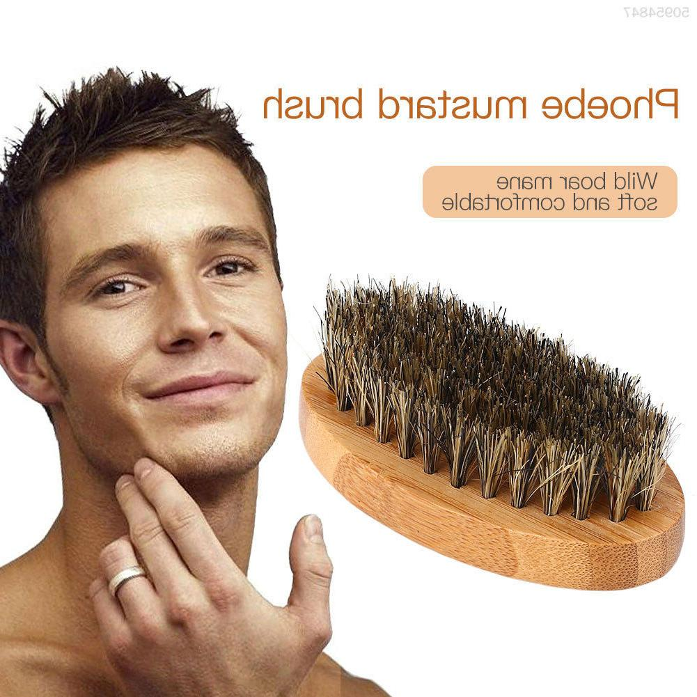 Beard Mustache Oil Military Wood 8cm Handle Comb