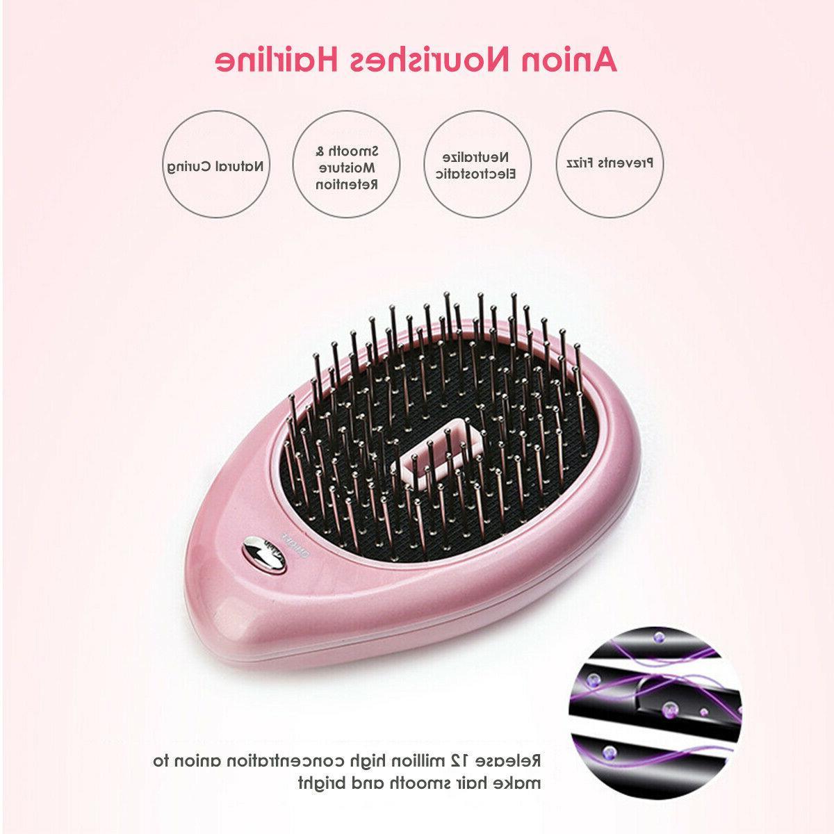 Mini Ionic Hair Anti Tangle Hairbrush
