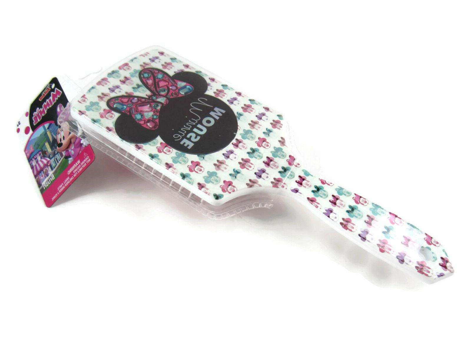 minnie mouse girl s paddle hair brush