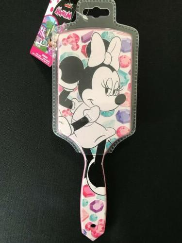 Disney Minnie Mouse Paddle Hair Brush Plastic Bristle Bed Ha
