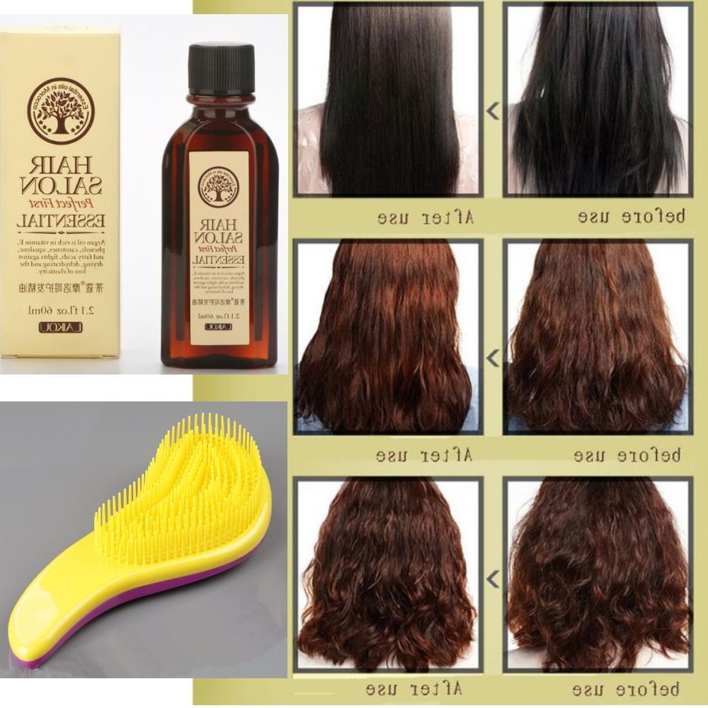 Moroccan Pure Argan Essential Oil Hair Care + Free Magic Det