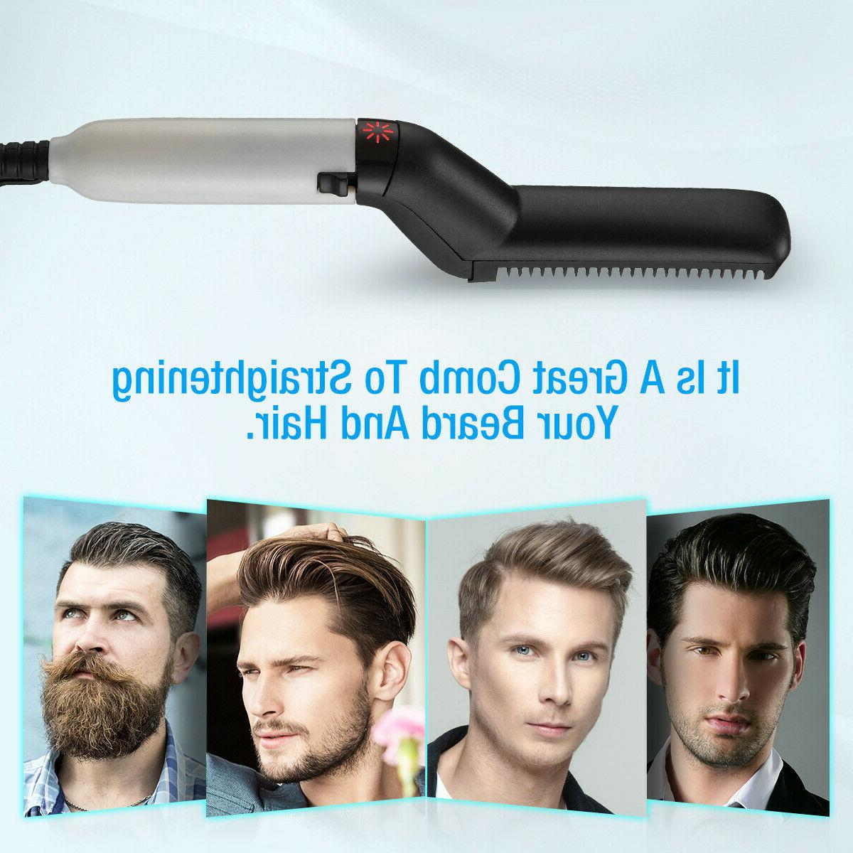 Multifunctional Hair Straightener Men Comb Brush