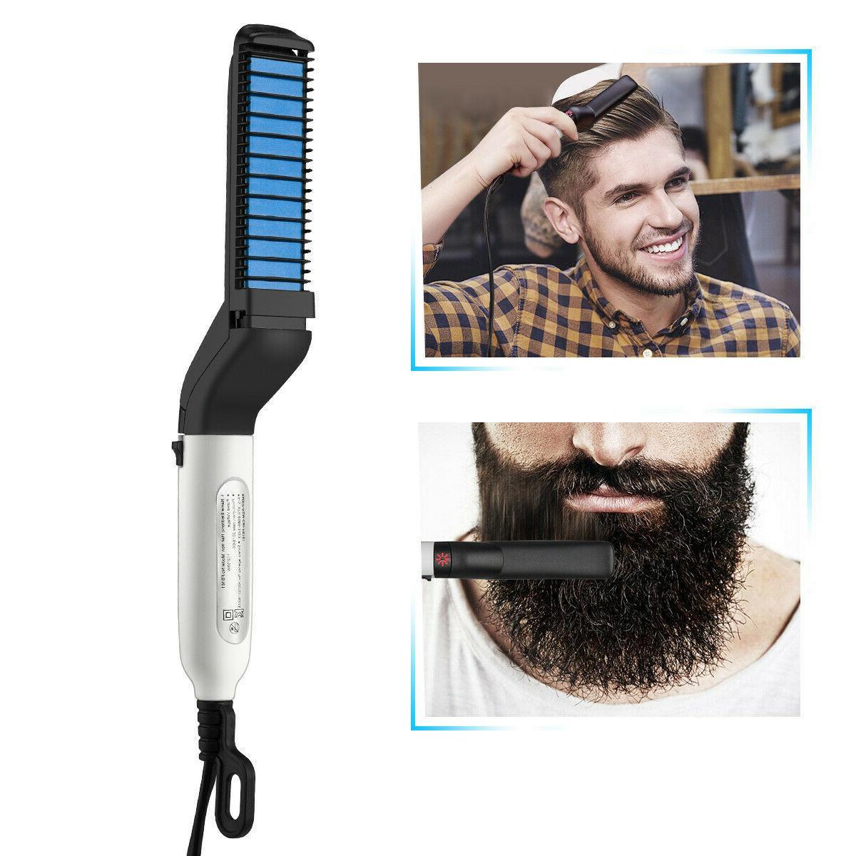multifunctional hair straightener for men comb curling
