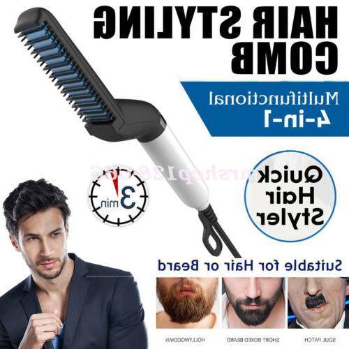 Multifunctional Hair Brush Curling Curler For Men