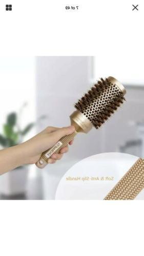 SUPRENT Nano Ceramic Ionic Round Hair Brush Boar