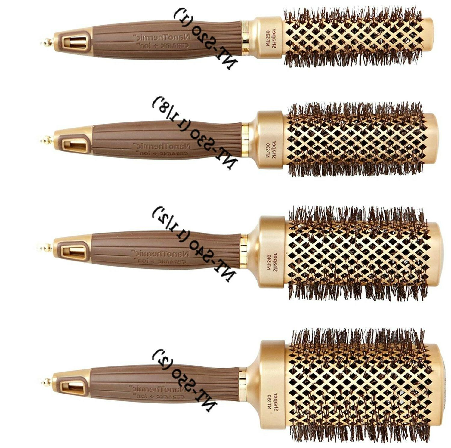 nanothermic square collection professional hair brush 1pc