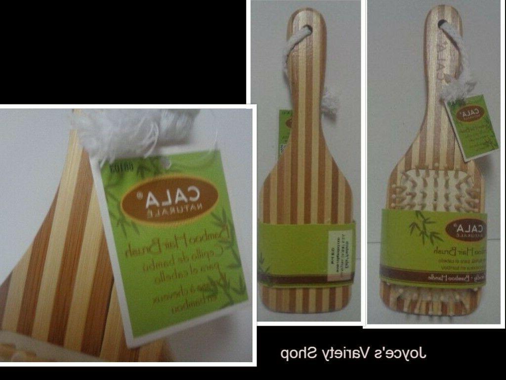 natural bamboo hair brush nwt eco friendly