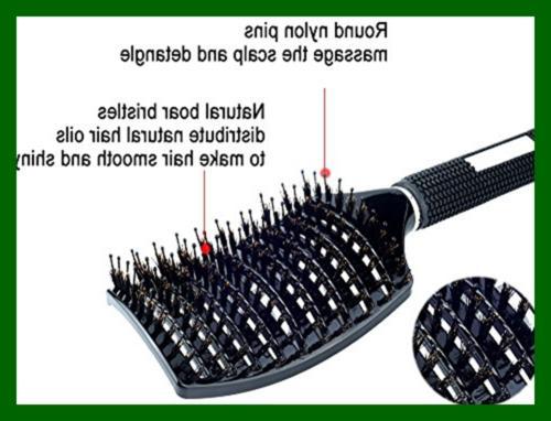 Natural Bristle Brush Detangling Blow Long