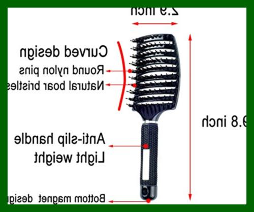 Natural Boar Hair Brush Curved Vented Blow Long