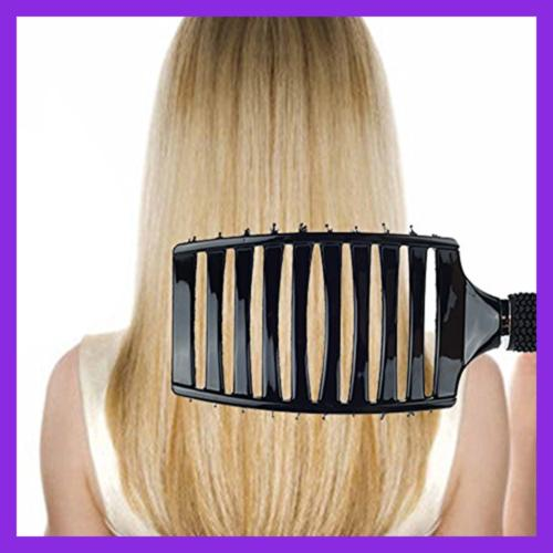 Natural Boar Bristle Brush Curved Vented Detangling Blow For Long