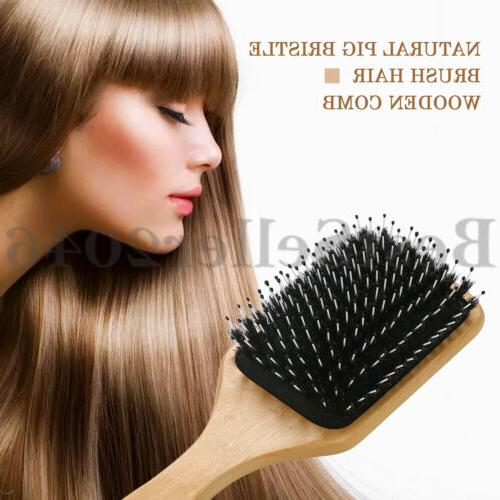 Natural Bristle Brush Wooden Cushion