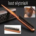 Natural Wooden Handle Hair Teasing Brush Boar Bristle Hair C