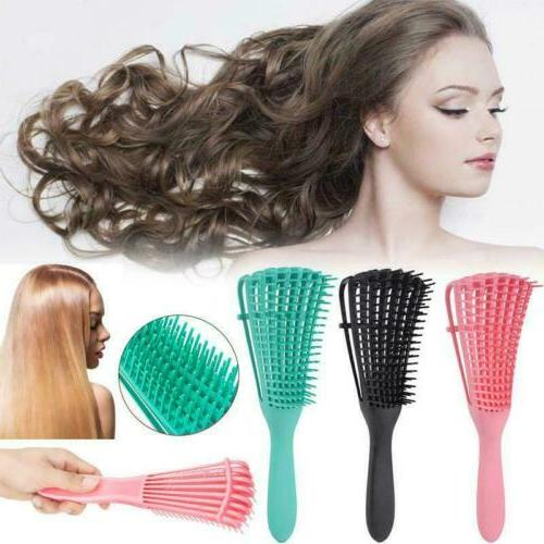 New Detangling Brush Combing Wet/Dry Curly Natural