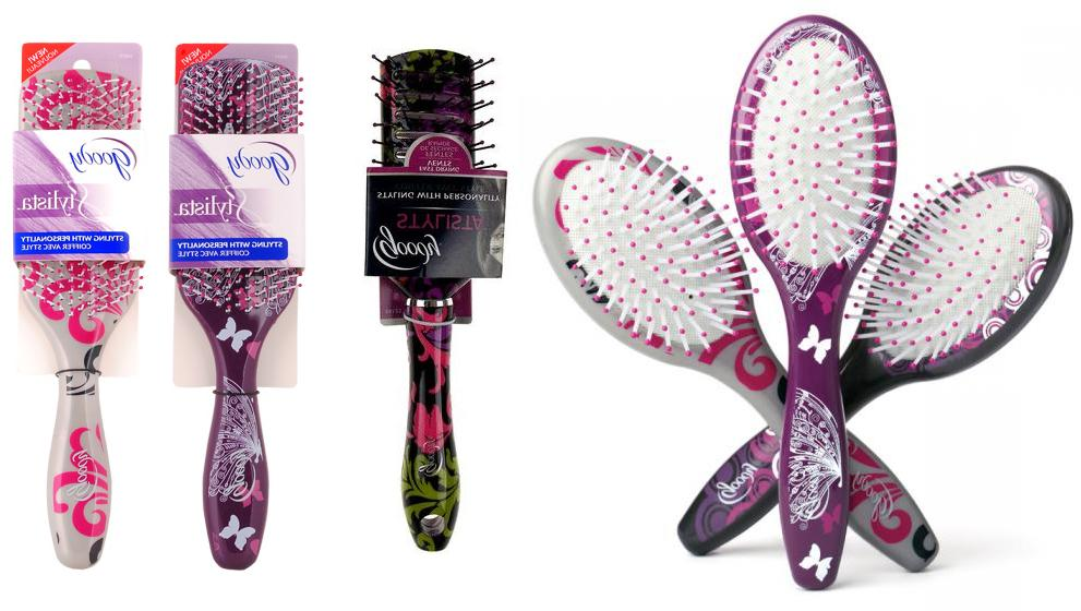 new nwt stylista paddle vented hair brush