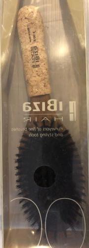 IBIZA Hair OC4 Oval Flat Brush - Boar Bristle Cork Handle