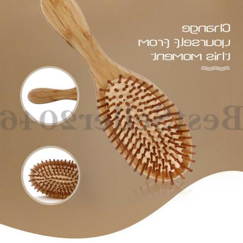 Organic Wooden Brush Scalp Air Anti-stati