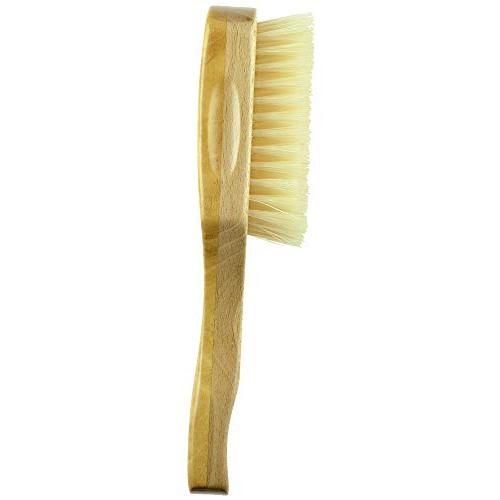 Kent Rectangular Club Beautiful Satin Beech Wood Base, Boar Bristle. Ideal For Men Thinning Hair, Sensitive Scalps