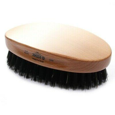 oval beech wood pure black bristle hair