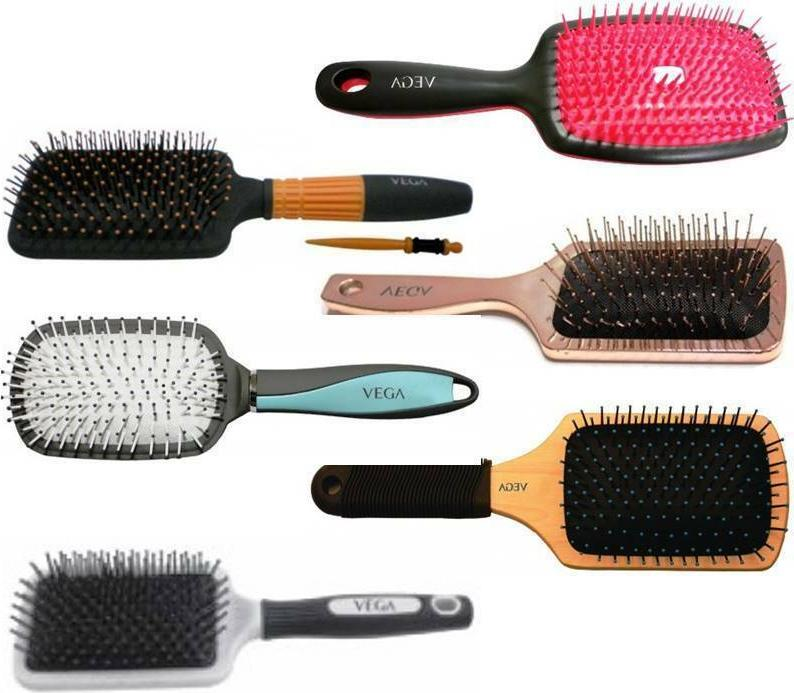 Vega Paddle Brush Choose from 6 Variants Hair Care