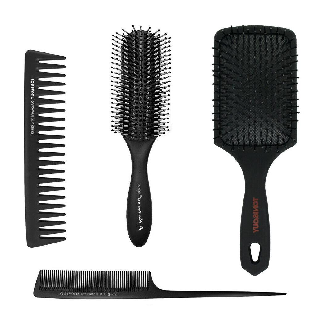 Paddle Brush and 4Pcs Set for and