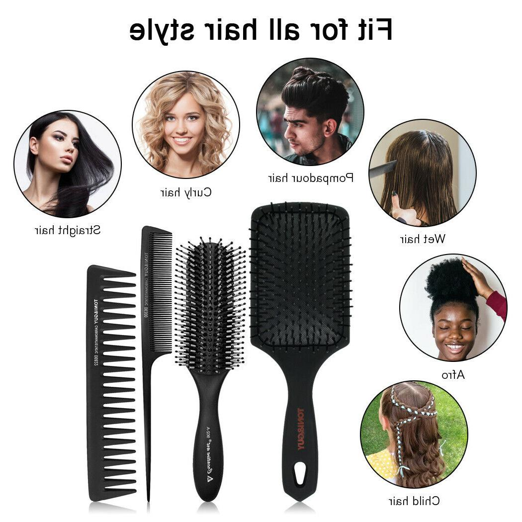 Paddle Brush Hair 4Pcs for and