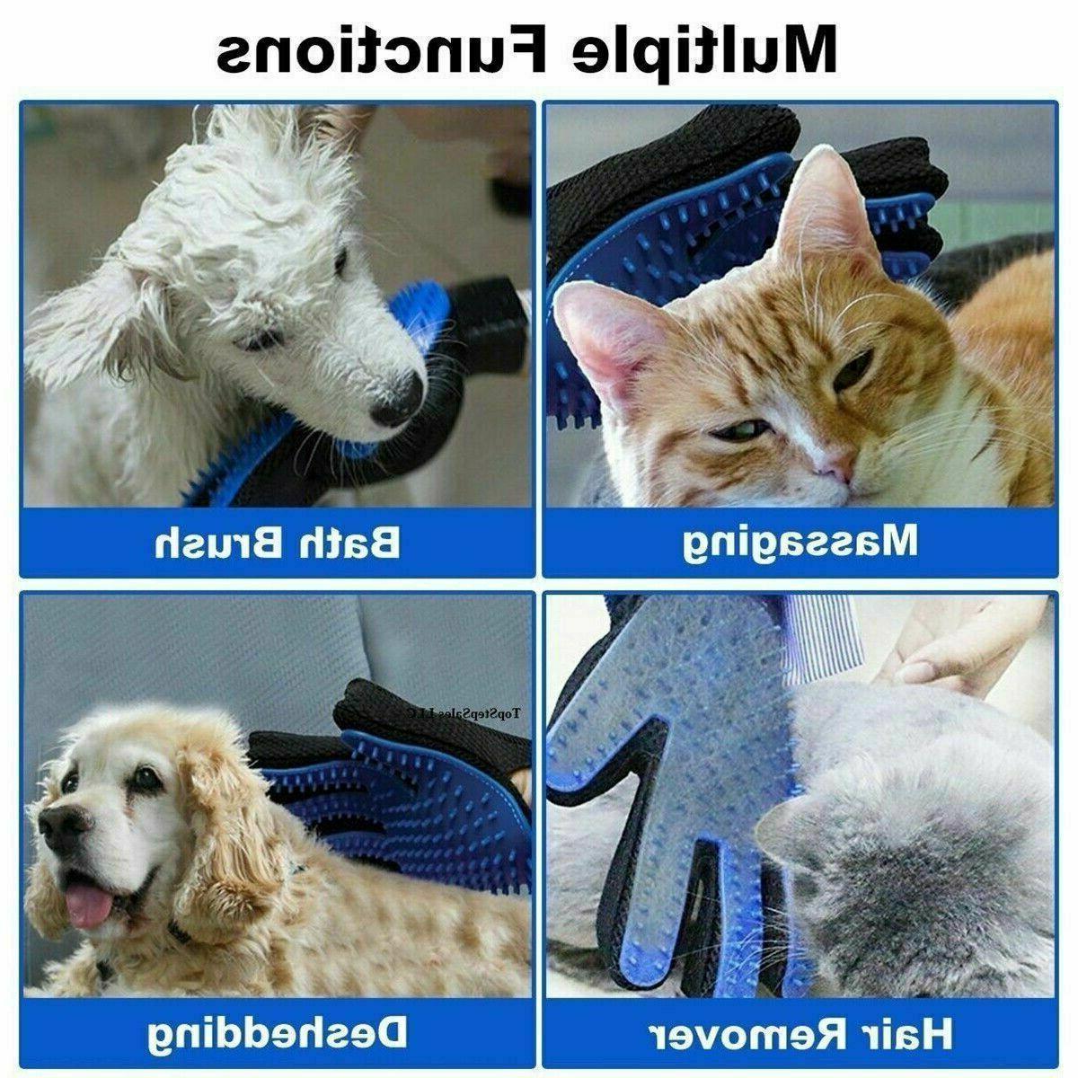 Pet Brush Dog Cat Removal Gloves Deshedding Massage