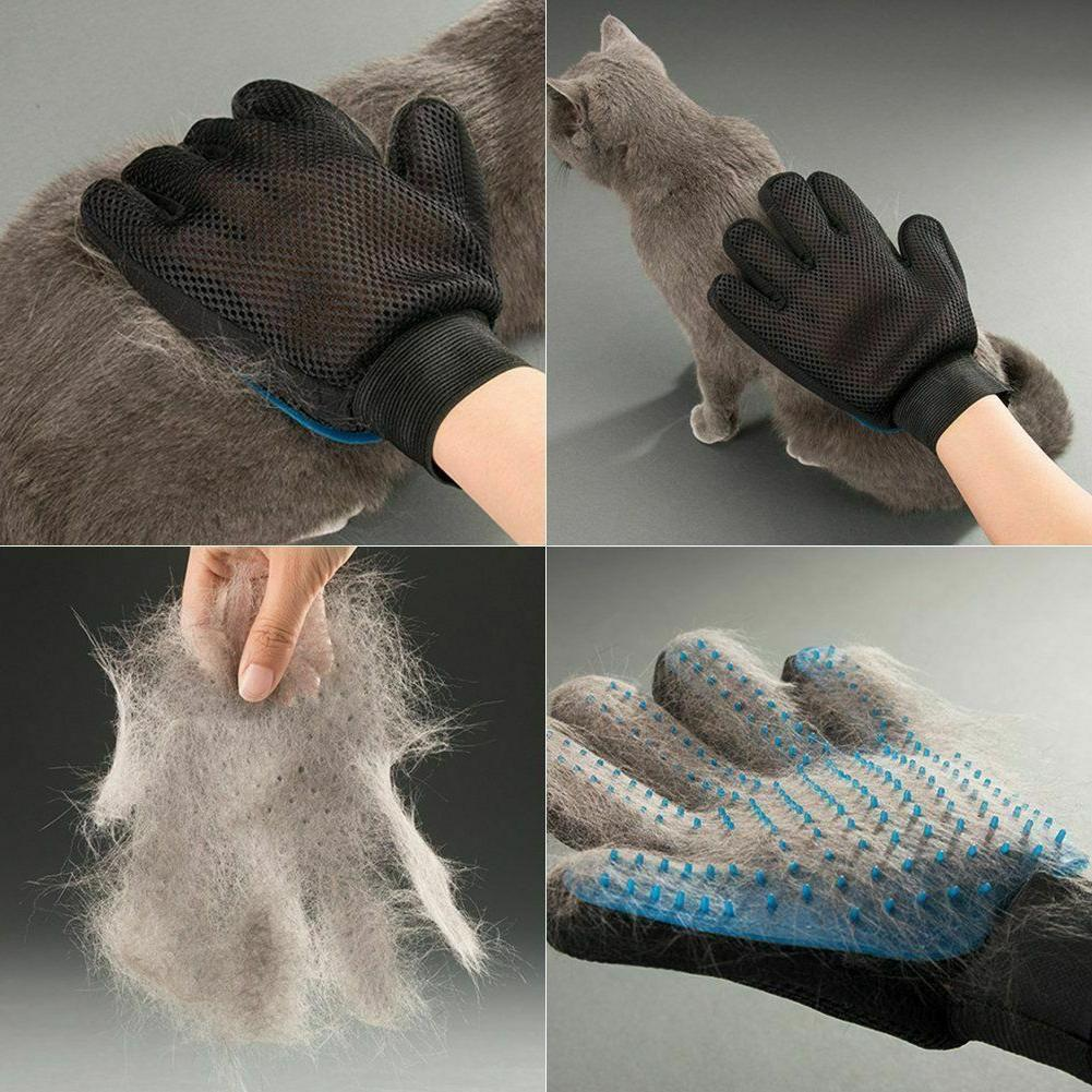 Pet Glove Hair Brush Cat Fur Removal Massage