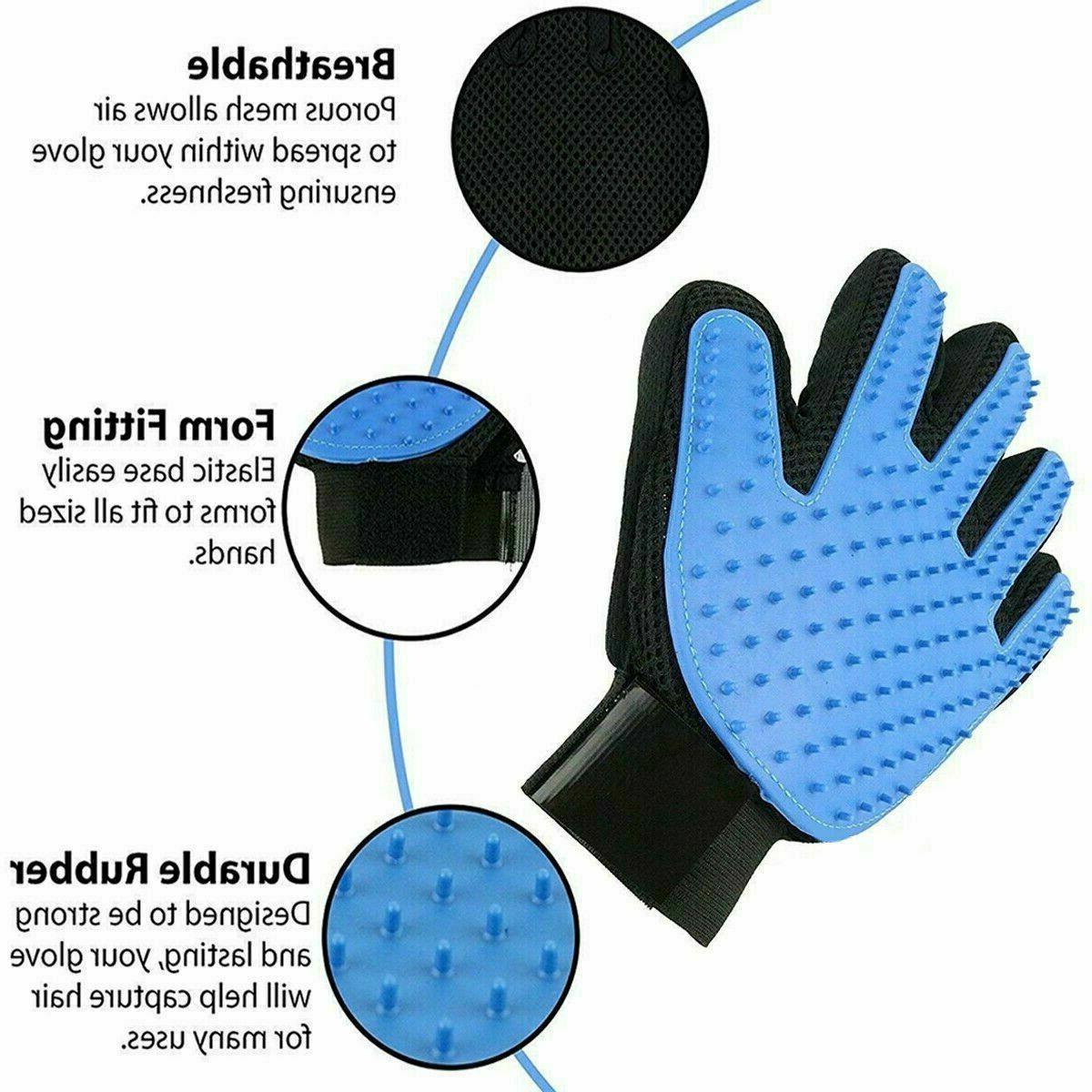 Pet Grooming Glove Brush Dog Fur Removal Gloves Deshedding Massage