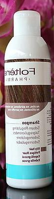 Foltene pharma Shampoo. Oily hair.200ml-6.8Fl.Oz. +Free hair