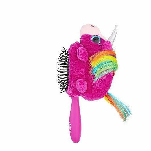 plush detangler hair brush for kids soft