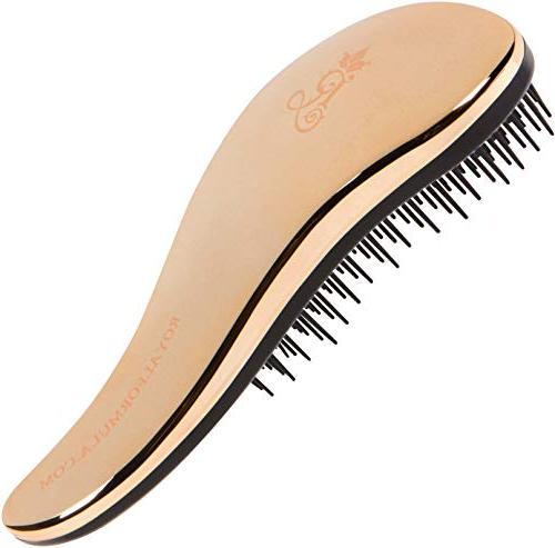 Pro Detangle Brush for & - for Wet Hair, Spit Ends, Massages Shafts & Stimulates Growth.
