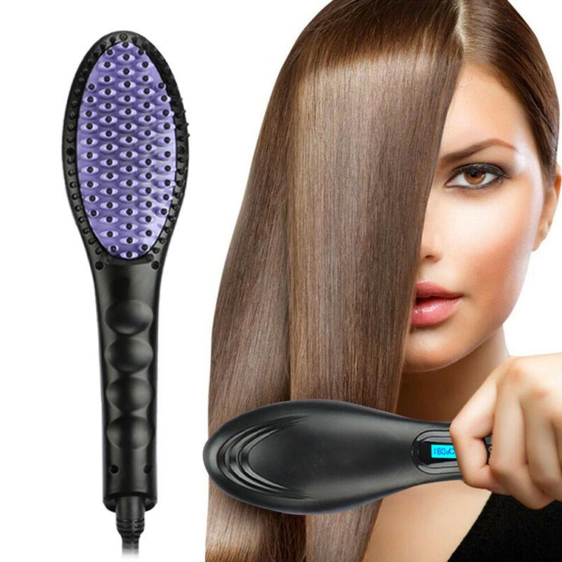 pro hair straightener brush instant magic silky