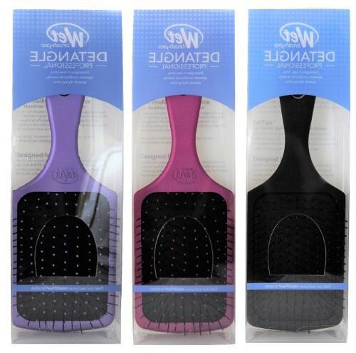 pro select paddle hair brush pink black