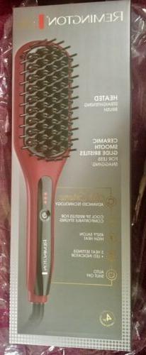 Remington Pro Silk Ceramic Heated Straightening Hair Brush S