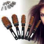 Pro Women Hair Brush Ceramic Iron Round Comb Barber Dressing