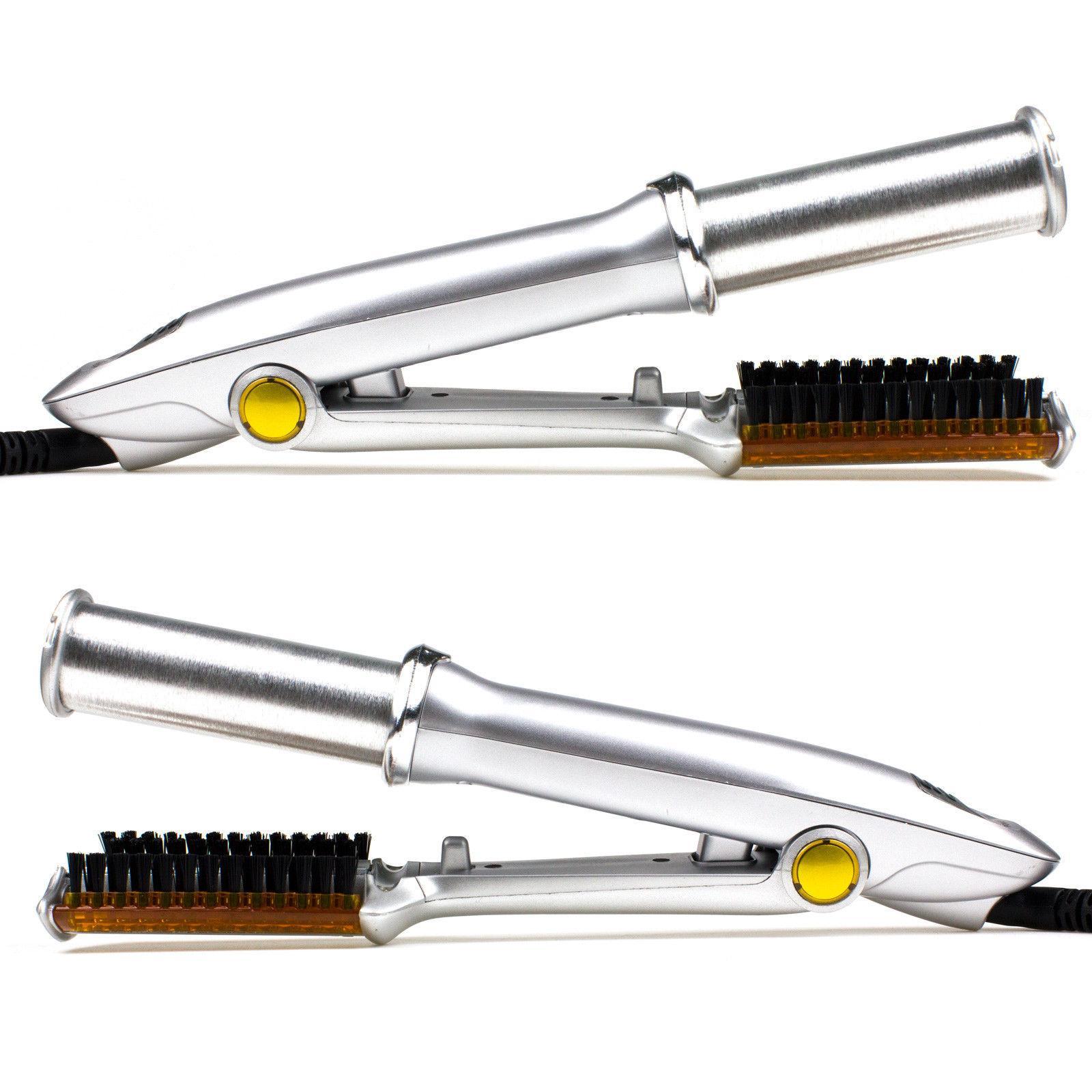 Professional 2-Way Wet Dry Hair Brush Straightener