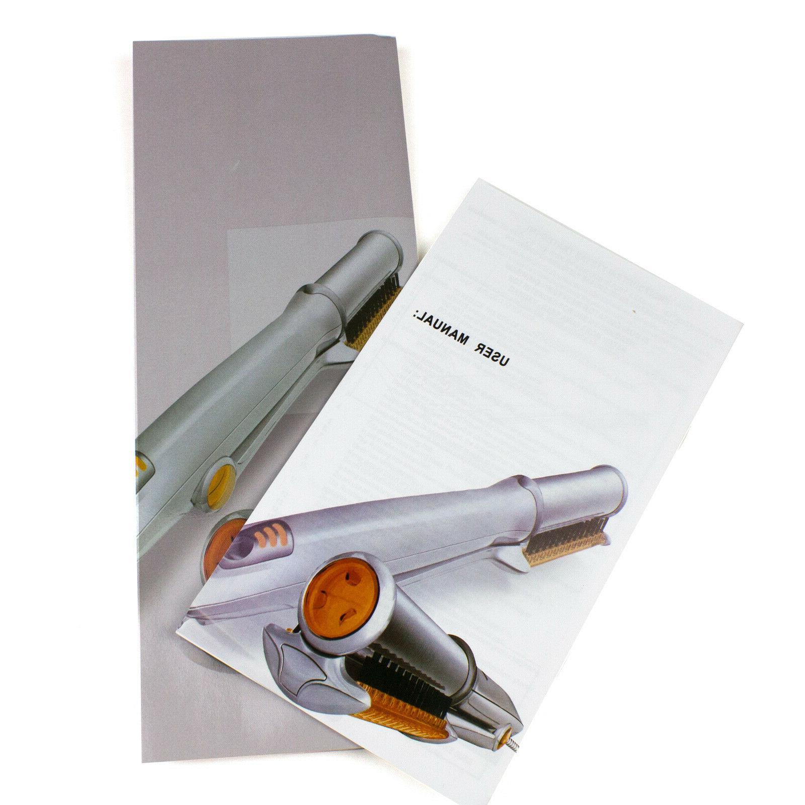 Professional Wet To Dry Rotating Iron Hair Brush Straightener