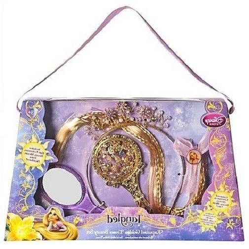 Rapunzel Golden Tress Hair Tiara Brush Mirror Tangled Nwt Disney Store