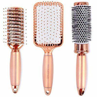 Lily England Luxury Rose Gold Hair Brush Set