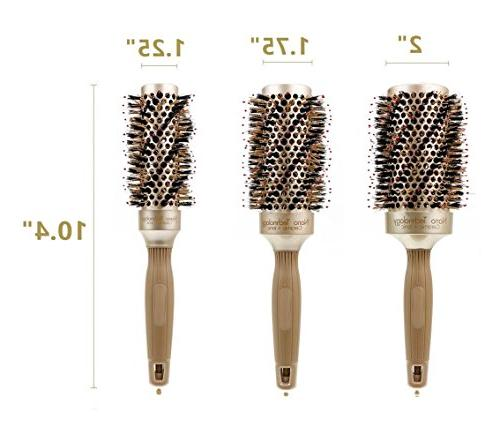 Round Hair Brush Natural & Nylon,Fast For Women Curly Volume