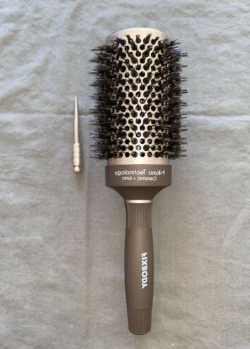 round barrel hair brush nano technology ceramic