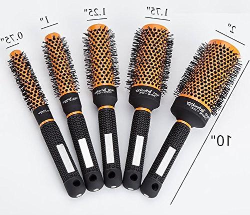 Round Barrel Brush Nylon Tool Blow Hairbrush Women Detangling Wavy