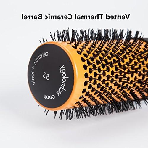 Round Hair Nylon Bristles,Professional Tool Blow Hairbrush Women Detangling Curly Wavy Hair Volume,Detangler