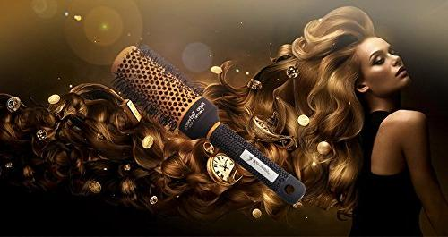 Round Hair Nylon Salon Hairbrush For Women Detangling Curly Hair