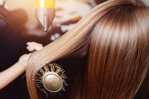 Fagaci Round Brush Blow Drying Boar   + Ionic Styling, Healthy and Hair Brush + 4 Styling