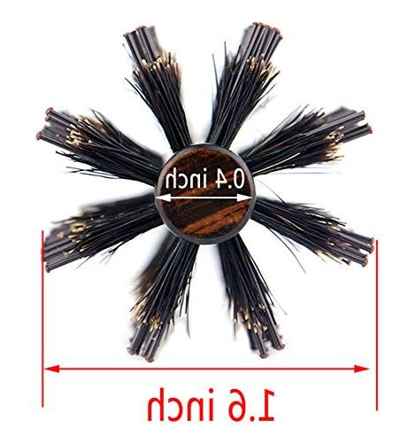 Small Round Hair Brush for Thin Hair, Boar Bristle Beard for