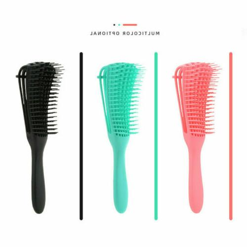 The US EZ Detangler Hair Brush Anti-Static Scalp Comb Salon