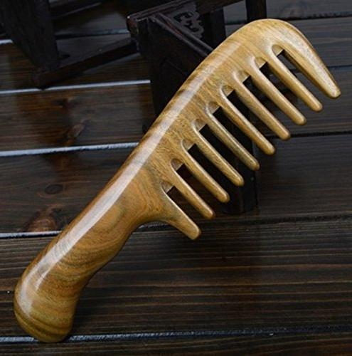 set combs hairbrush green sandalwood